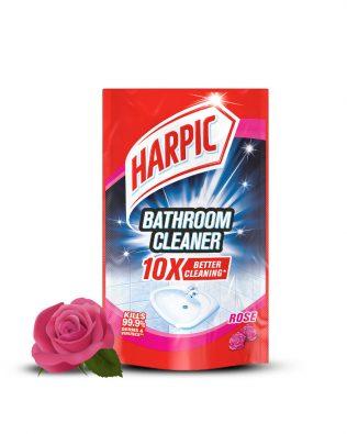 Harpic Bathroom Cleaner Refill Pouch 400ml – Rose / Lemon