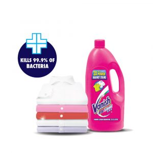Vanish Fabric Stain Remover Laundry Detergent Liquid 500ml – Extra Hygiene / Oxi Action / Crystal White