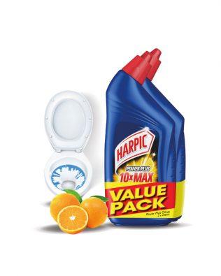 [Value Pack] Harpic Powerplus All-in-one Cleaning Gel (450ml x 2) – Original / Citrus