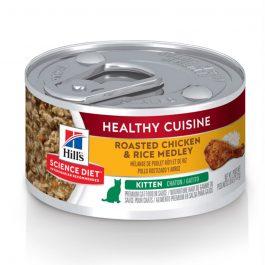 Hill's Science Diet Kitten Healthy Cuisine Roasted Chicken & Rice Medley 79g – 10447
