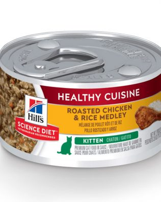 Hill's Science Diet Kitten Healthy Cuisine Cat Wet Food Roasted Chicken & Rice Medley 79g – 10447