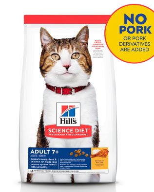 Hill's Science Diet Feline Adult 7+ Cat Dry Food 3.5kg – 10312HG