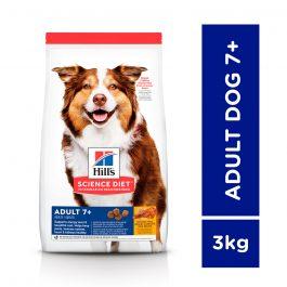 Hill's Science Diet Adult 7+ Chicken Meal, Barley & Rice 3kg(3kg Chicken + Barley & Brown Rice) -6938HG