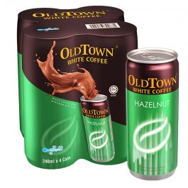 OLDTOWN White Coffee Hazelnut RTD Canned Drink 240ml x 4 Cans Cluster Pack